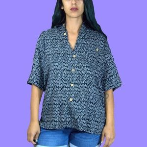 90s Abstract Button Up M